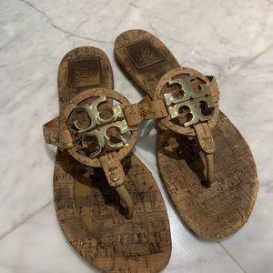 Tory Burch cork slippers